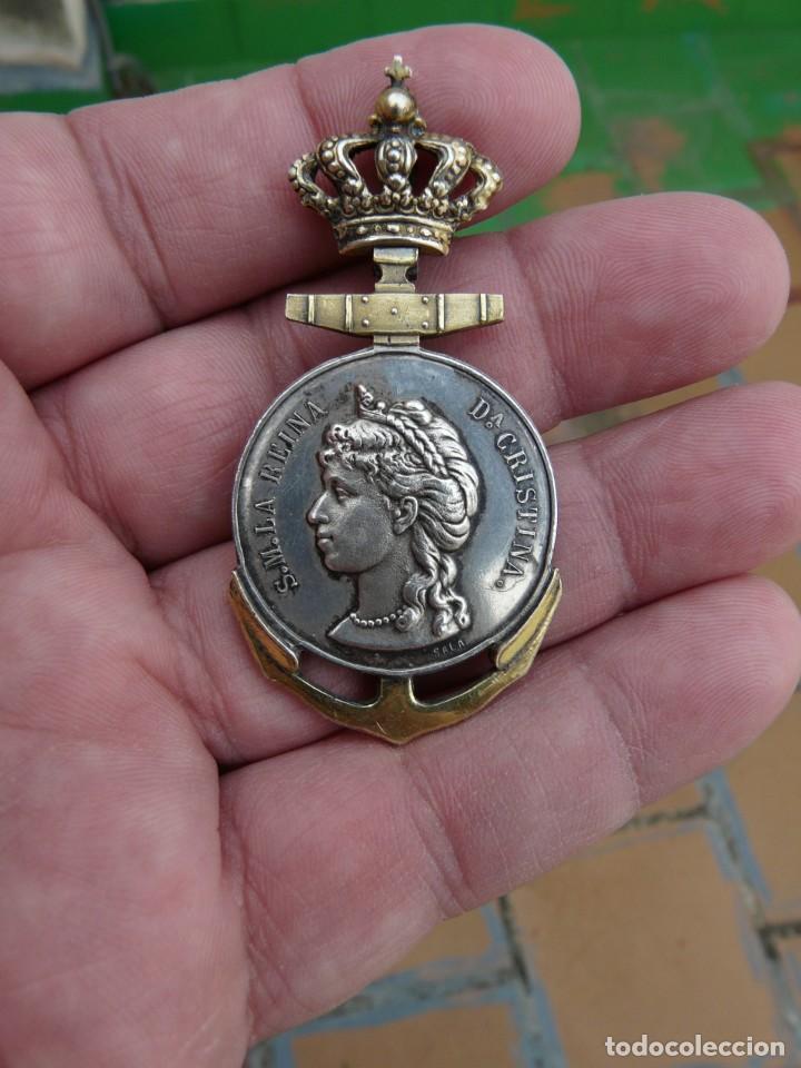 MEDALLA SOCIEDAD ESPAÑOLA DE SALVAMENTO DE NÁUFRAGOS - 1887-1906 (Militar - Medallas Españolas Originales )