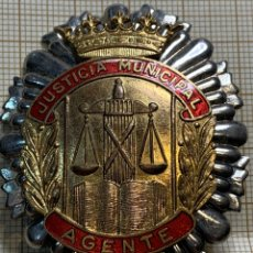 Militaria: PLACA JUSTICIA MUNICIPAL AGENTE DE MADRID. Lote 220691288