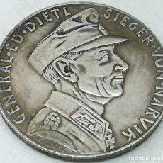 Militaria: RÉPLICA MEDALLA GENERAL EDUARD DIETL. BATALLA DE NARVIK. 10-6-1940. II GUERRA MUNDIAL, ALEMANIA. Lote 221455171