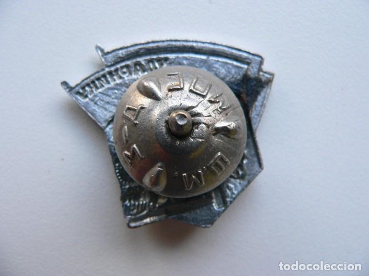 Militaria: URSS DISTINTIVO FERROVIARIO SOVIÉTICO LLAMAMIENTO DE STALIN - Foto 4 - 221513002