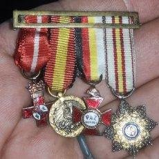 Militaria: PASADOR DE MEDALLAS EN MINIATURA. Lote 221550310