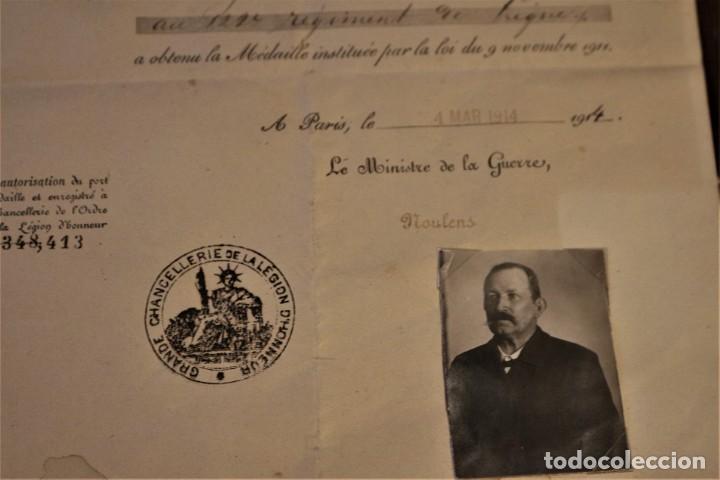 Militaria: Guerra franco-prusiana 1870-1871. Medalla + diploma + foto + cartilla militar. Francia. - Foto 4 - 222028300