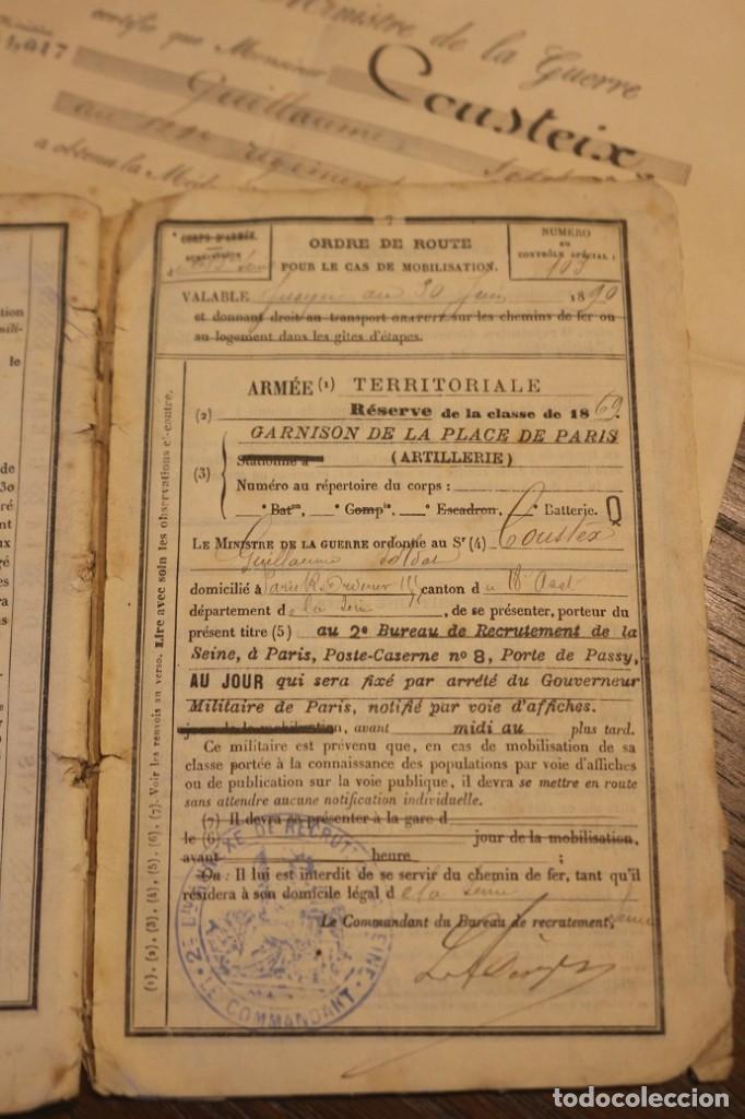 Militaria: Guerra franco-prusiana 1870-1871. Medalla + diploma + foto + cartilla militar. Francia. - Foto 7 - 222028300