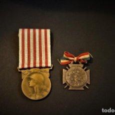 Militaria: MEDALLA DE LA I GUERRA MUNDIAL (1914-1918) Y MEDALLA DEL DÍA DEL RECLUTA (POILU) DE 1915. FRANCIA. Lote 222088696