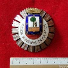 Militaria: GRAN PLACA POLICIA MINICIPAL CIRCULACIÓN MADRID. Lote 222137317
