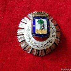 Militaria: GRAN PLACA PECHO POLICIA MUNICIPAL SERVICIOS ESPECIALES MADRID. Lote 222137502
