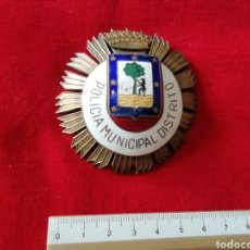 Militaria: GRAN PLACA PECHO POLICIA MUNIPICAL DISTRITO MADRID. Lote 222137700