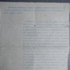 Militaria: CERTIFICADO CONCESIÓN MEDALLAS GUERRA CIVIL: DE CAMPAÑA Y CRUZ ROJA MÉRITO CIVIL AÑO 1940. Lote 222146722