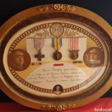Militaria: CONDECORACIÓN MEDALLAS MILITAR DE FRANCIA CHAMPAGNE LORRAINE 1914-1918. Lote 222224251