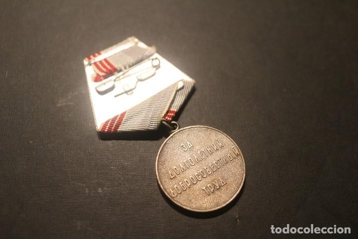 Militaria: Medalla al veterano del Trabajo URSS - Unión Sovietica - Foto 2 - 222293040