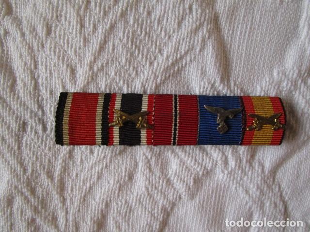 PASADOR DE MEDALLAS DE DIARIO LUFTWAFFE LEGION CONDOR RUSIA CRUZ HIERRO. ORIGINAL. VER FOTOS (Militar - Medallas Extranjeras Originales)