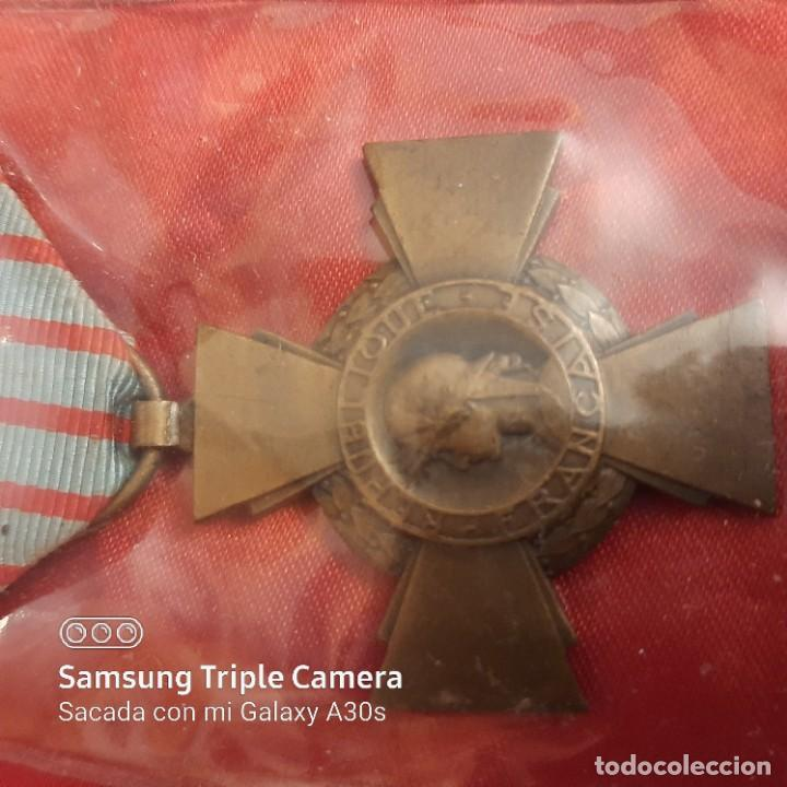 CRUZ FRANCESA DE COMBATIENTES (Militar - Medallas Extranjeras Originales)