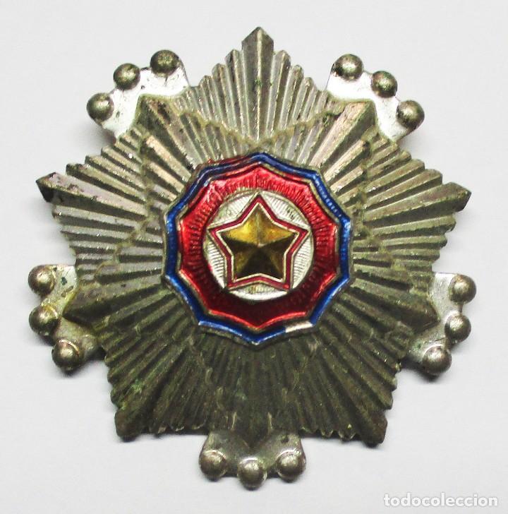 COREA DEL NORTE. ORDEN DE LA BANDERA NACIONAL. SEGUNDA CLASE. LOTE 0144 (Militar - Medallas Internacionales Originales)