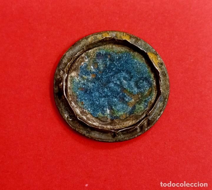Militaria: Botón Medalla Militar Antigua Isabel la Católica - Foto 2 - 222624067