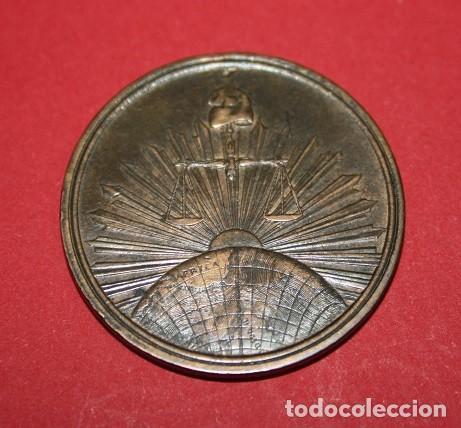 531,,DEMÓCRATAS REPUBLICANOS PROTESTAN CONTRA LA MONARQUIA. 1869 (Militar - Medallas Españolas Originales )