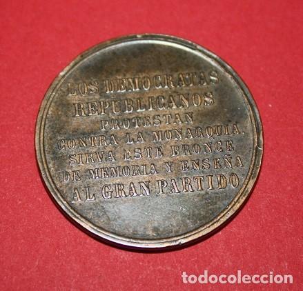 Militaria: 531,,DEMÓCRATAS REPUBLICANOS PROTESTAN CONTRA LA MONARQUIA. 1869 - Foto 2 - 222654605