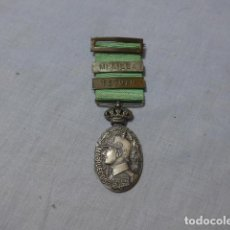 Militaria: * ANTIGUA MEDALLA DE GUERRA DE MARRUECOS CON CORONA MOVIL, PASADOR MELILLA Y TETUAN. ORIGINAL. ZX. Lote 222829840
