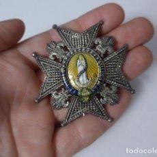 Militaria: ANTIGUA PLACA MEDALLA DE COMENDADOR DE LA ORDEN DE CARLOS III, ORIGINAL.. Lote 222832673