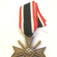 Militaria: CRUZ DEL MERITO MILITAR 2 CLASE 1939 CON ESPADAS,BUNTMETAL,ALEACIÓN DE COBRE + SU CINTA LARGA ORIGN.. Lote 222915877