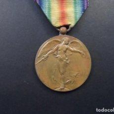Militaria: MEDALLA LA GRANDE GUERRE POUR LA CIVILISATION 1914-1918. INTER ALIADOS. BRONCE. REINO DE BELGICA. Lote 223891013