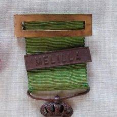 Militaria: MEDALLA MILITAR, MARRUECOS. REINADO DE ALFONSO XIII. CON PASADOR DE MELILLA.. Lote 223936036