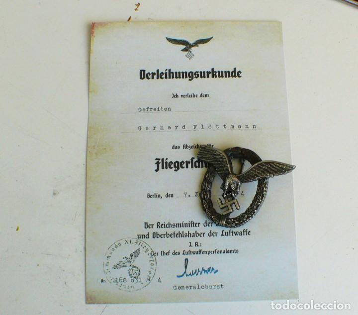 Militaria: insignia de piloto .Tercer Reich. - Foto 3 - 224926482