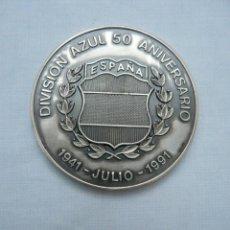 Militaria: MEDALLA 50 ANIVERSARIO DE LA DIVISION AZUL 1941- 1991 ACUÑADA EN PLATA DE LEY. Lote 225058850