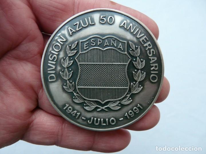 Militaria: MEDALLA 50 ANIVERSARIO DE LA DIVISION AZUL 1941- 1991 ACUÑADA EN PLATA DE LEY - Foto 3 - 225058850