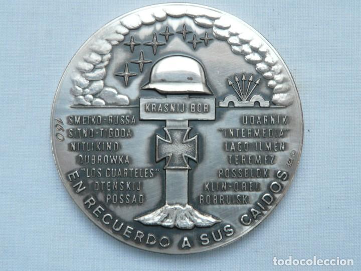 Militaria: MEDALLA 50 ANIVERSARIO DE LA DIVISION AZUL 1941- 1991 ACUÑADA EN PLATA DE LEY - Foto 8 - 225058850