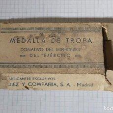Militaria: CAJA VACÍA DE MEDALLA DE LA DIVISIÓN AZUL. Lote 225542835
