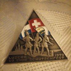 Militaria: MEDALLA LUZERN 5D EIDG SCHÜTZENFEST 1979 ,HUGUENIN LOCLE. Lote 225558500