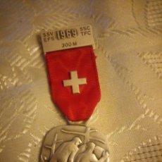 Militaria: MEDALLA SSV-EFS-SSC-TFC 300M 1969, MORGARTEN 1315 ,HUGUENIN LOCLE. Lote 225558855