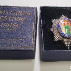 Militaria: MEDALLA MASONICA INGLESA DE PLATA.FESTIVAL FUNDACION DE CHICAS DE 1919.EN SU CAJITA ORIGINAL.. Lote 226074925