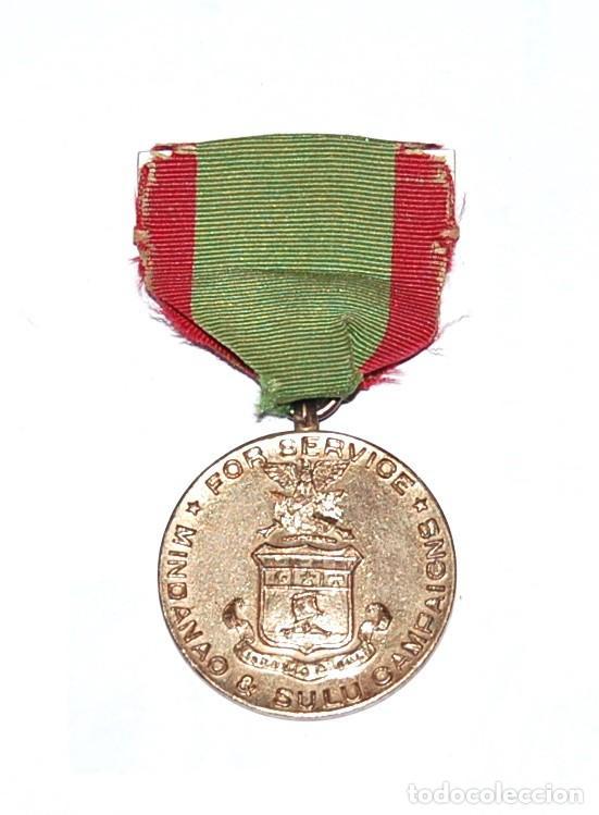 MEDALLA USA DE LA CAMPAÑA DE LA GUERRA DE INSURRECCIÓN EN FILIPINAS - MINDANAO & SULU - 1901/1913 (Militar - Medallas Extranjeras Originales)