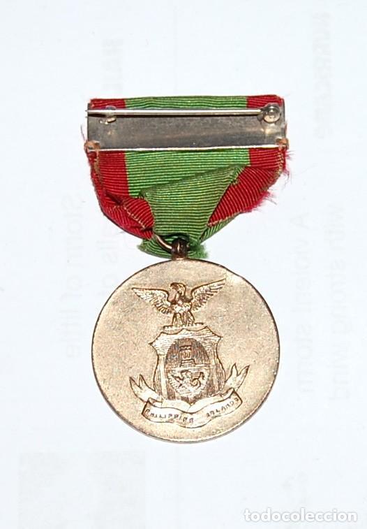 Militaria: MEDALLA USA DE LA CAMPAÑA DE LA GUERRA DE INSURRECCIÓN EN FILIPINAS - MINDANAO & SULU - 1901/1913 - Foto 2 - 226137405