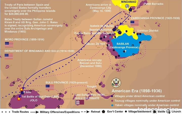 Militaria: MEDALLA USA DE LA CAMPAÑA DE LA GUERRA DE INSURRECCIÓN EN FILIPINAS - MINDANAO & SULU - 1901/1913 - Foto 4 - 226137405