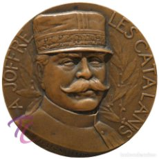 Militaria: MEDALLA HONORIFICA VOLUNTARIS CATALANS GENERAL JOFFRE 12 NOVEMBRE 1916. Lote 160038758