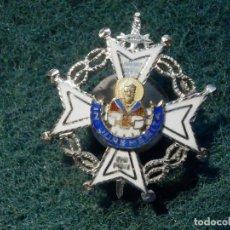 Militaria: INSIGNIA / MEDALLA ESMALTADA PARA OJAL - IN JUREMERITA - SIN DETERMINAR - PLATA - JUSTICIA - MERITO. Lote 226390350