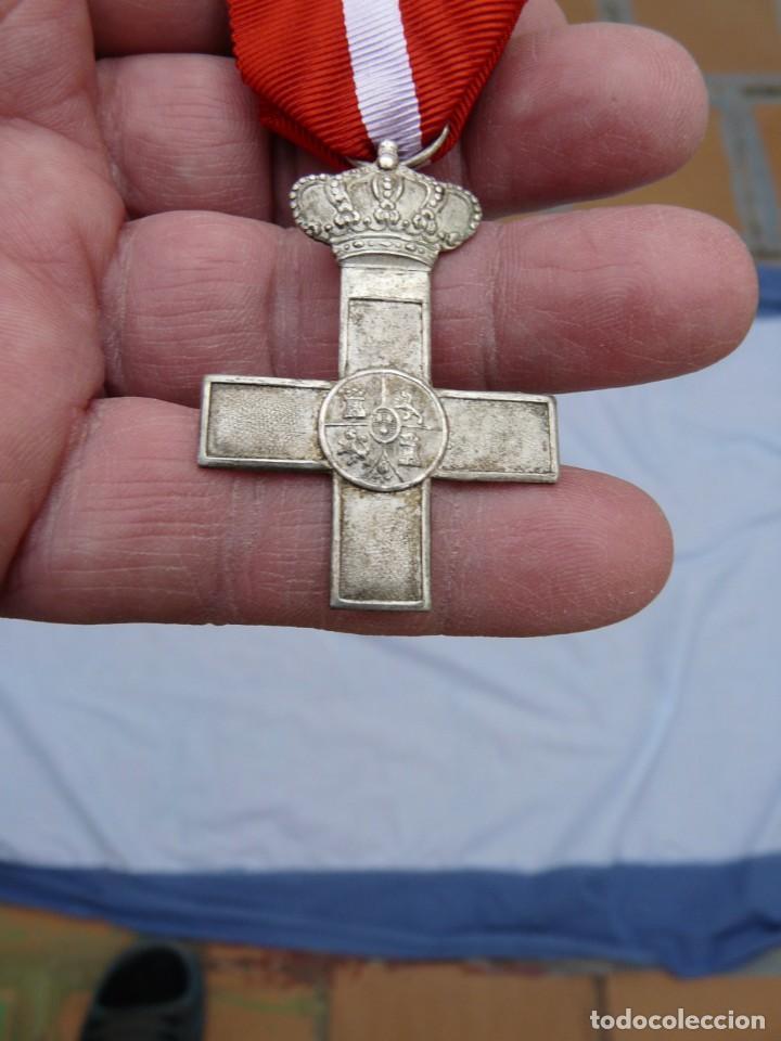 MEDALLA CRUZ MERITO MILITAR TROPA - EPOCA ALFONSO XIII (Militar - Medallas Españolas Originales )