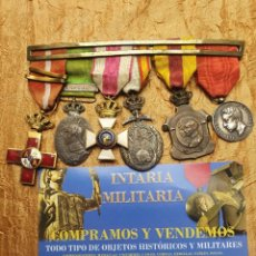 Militaria: PASADOR MEDALLAS ESPAÑOLAS. Lote 227147435