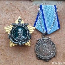Militaria: 2 MEDALLAS. ORDEN DEL ALMIRANTE USHAKOV Y MEDALLA. LA URSS. Lote 227222090