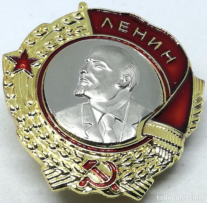 RÉPLICA MEDALLA PLACA ORDEN DE LENIN. 1930-1991. URSS. RUSIA COMUNISTA (Militar - Reproducciones y Réplicas de Medallas )