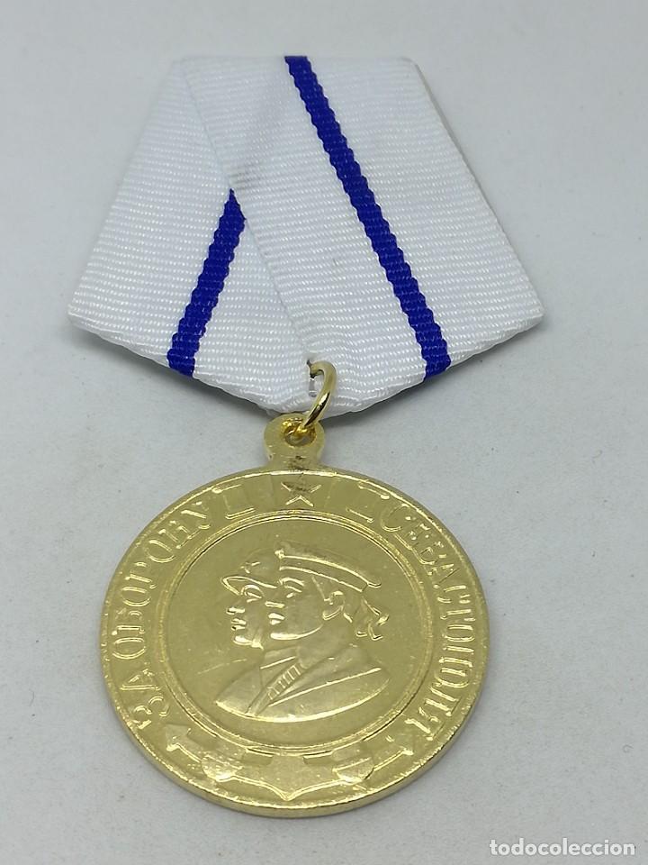 Militaria: RÉPLICA Medalla Defensa de Sebastopol. 1942. URSS-CCCP Rusia Comunista - Foto 2 - 228033405