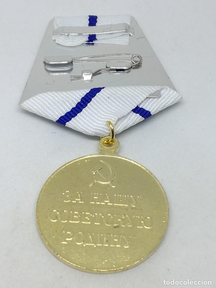 Militaria: RÉPLICA Medalla Defensa de Sebastopol. 1942. URSS-CCCP Rusia Comunista - Foto 3 - 228033405