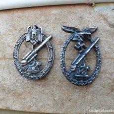 Militaria: 2 INSIGNIAS. ANTIAÉREA DEL EJÉRCITO Y FLAK DE LA LUFTWAFFE.TERCER REICH.. Lote 228604796