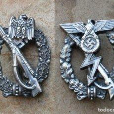 Militaria: 2 INSIGNIAS. DE ASALTO DE INFANTERÍA,Y PROTOTIPO.RARO..TERCER REICH.. Lote 228607355