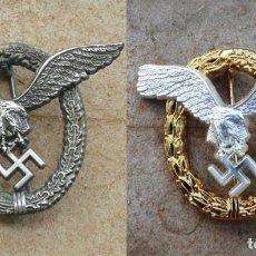 Militaria: 2 INSIGNIAS. DE PILOTO .Y DE PILOTO / OBSERVADOR.TERCER REICH.. Lote 228609005
