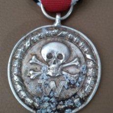 Militaria: INTERESANTE MEDALLA ALEMANIA NAZI III REICH DIVISIONES DE COMBATE CALAVERA 2ªG.M DE LAS WAFFEN SS. Lote 229249130