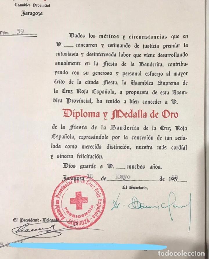 Militaria: LOTE DE LA CRUZ ROJA - AÑOS 50 ORIGINAL - CONDECORACIONES - CARNET - BRAZALETE - Foto 23 - 220529308