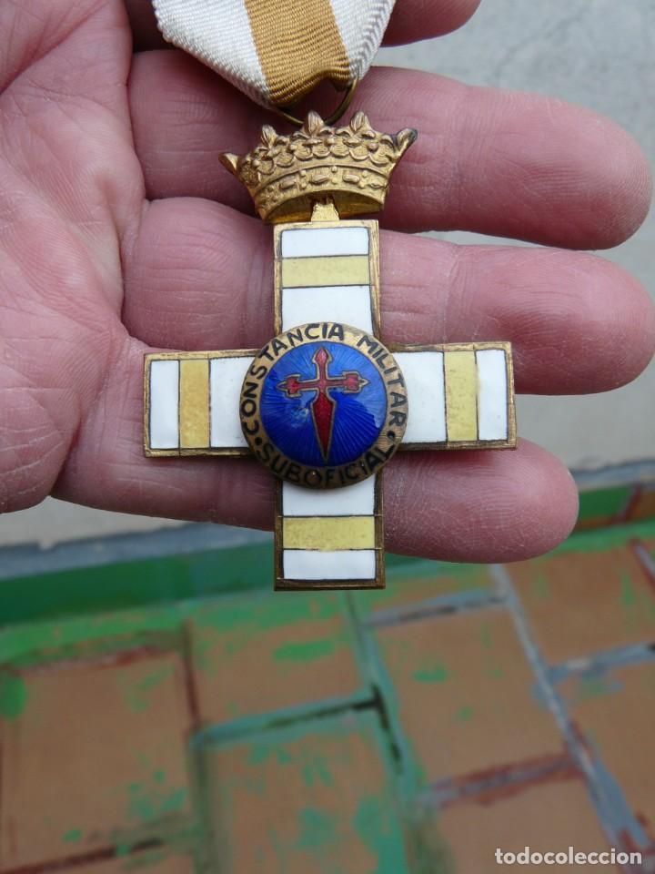 MEDALLA CONSTANCIA MILITAR SUBOFICIAL EPOCA FRANCO (Militar - Medallas Españolas Originales )